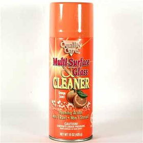 Quality Care Multi-Surface Glass Cleaner - Orange Case Pack 12quality