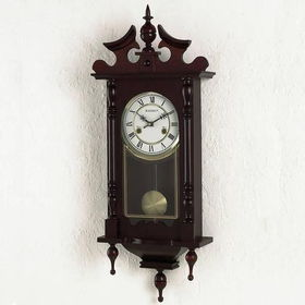 Kassel Quartz Linden Wood Wall Clock With Roman Numerals
