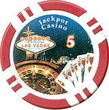 100 Jackpot Casino Clay Poker Chips - $5