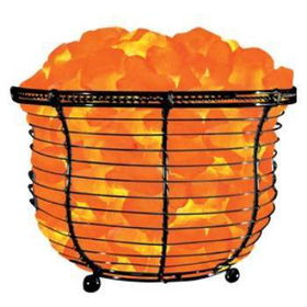 Himalayan Ionic Natural Salt Basket Lamp Tall (9-1 Case Pack 3himalayan