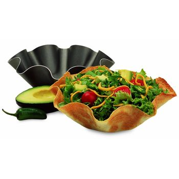 The Perfect Bake & Serve Tortilla Bowl Pan - 12pc Set