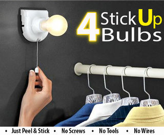 Instant Portable Light Bulb - 4pc