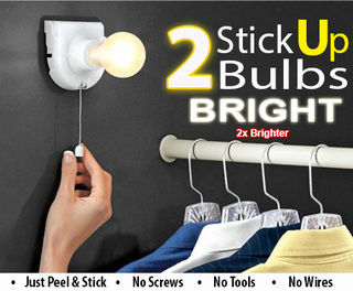 Instant Portable Light Bulb - 2pc BRIGHT Deluxe Edition