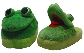 Stomp n Pop Up Slippers - Frog