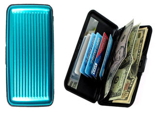 Large Aluminum Wallet - Teal