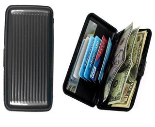 Large Aluminum Wallet - Black