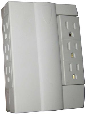 6 Side Swiveling Surge Protector Sockets