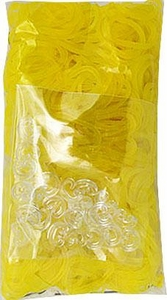 Loom 600Ct Rubber Band Refill - Yellow + 25 S-Clips