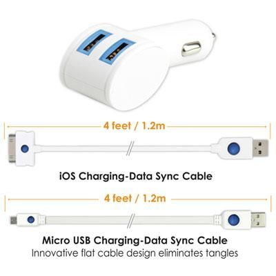 USB Dual Mobile Charging Kit