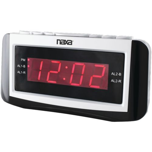 NAXA NRC171 Digital Alarm Clock with Large LED Display