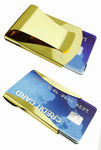 Stainless Steel Gold Metal Double Sided Money Clip