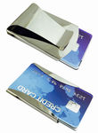 Stainless Steel Silver Metal Double Sided Money Clip