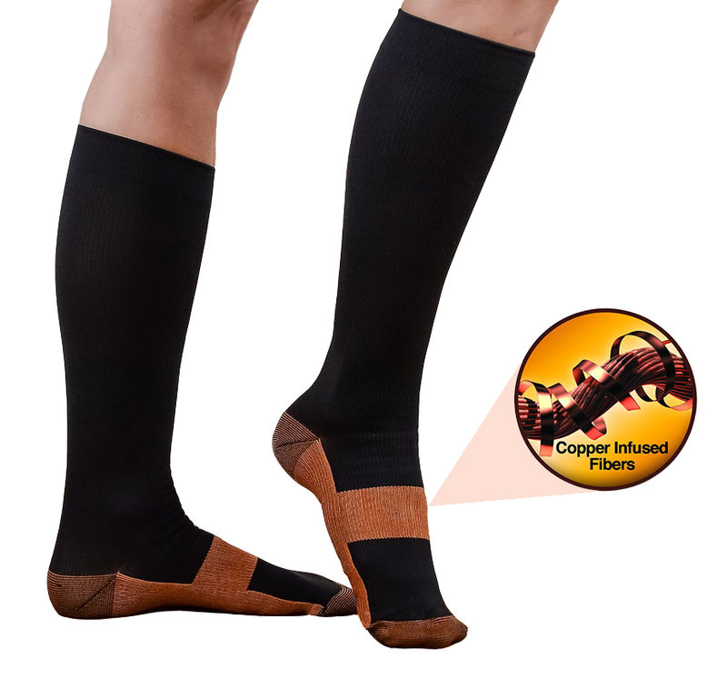 Miracle Copper Infused Compression Socks Anti Fatigue