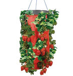 Vertical Strawberry & Herb Gardening Grow Bag Planter - Upside Down Herb Planter