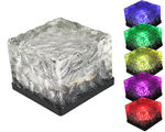 1pc - Solar Powered LED Frosted Ice Rock - Garden Pathway Light