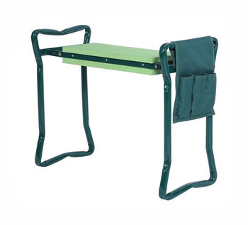 Foldable Garden Kneeler And Seat Bench - Portable Outdoor Gardening Padded Stool - Bonus Tool Pouch