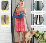 2 - Premium Magnetic Mesh Screen Door - With Heavy Duty Tough Mesh & Full Length Velcro - Premium Magnets