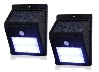 2pc - 8 LED Outdoor Solar Powered Wireless Waterproof Security Motion Sensor Flood Light