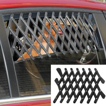 Expandable Car Window Ventilation Pet Grill - Universal Security Safeguard  Window Gate - Great For Dogs And Kids only $4 95