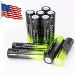 2pc 5800mAh 18650 3.7v Rechargeable Lithium Ion Battery