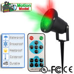 Christmas Star Laser Shower Projection Lights - Motion Star BURST w/ Remote