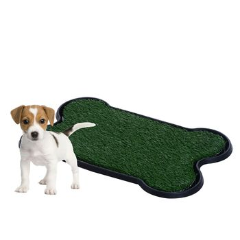 Dog Bone Potty Pad Indoor Outdoor Doggie Pet Gr Patch Bathroom