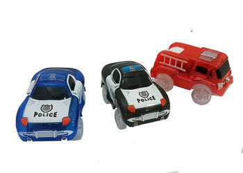 3pc - Magic Twister Glow In the Dark Race Emergency Vehicles