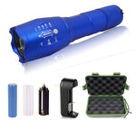 2 - G1000 Portable Zoomable Tactical LED Flashlight - 2000 Lumens - Blue