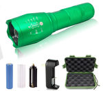 2 - G1000 Portable Zoomable Tactical LED Flashlight - 2000 Lumens - Green