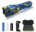 2 - G1000 Portable Zoomable Tactical LED Flashlight - 2000 Lumens - Blue Camo