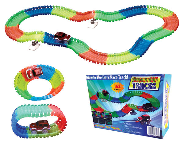 1 - Magic Twisting Glow In the Dark Light Up Race Tracks - Deluxe Set