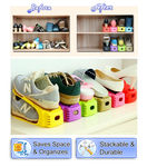 8pc Shoe Storage Slot Organizer Rack - Space Saving Shelf Storage