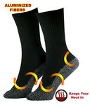 2 Pairs - 40º Below Heat Socks - Aluminized Threaded