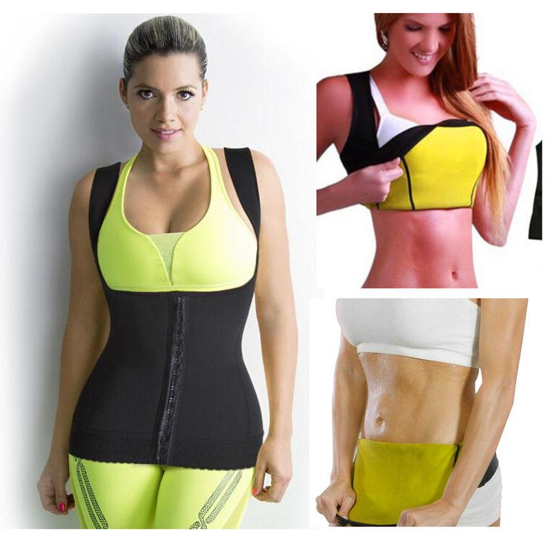Hot Thermal Body Shaping Sweat Neoprene Slimming U Vest ...