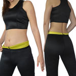 Hot Thermal Body Shaping Sweat Neoprene Slimming Capri Pants