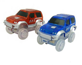 2pc - Magic Twister Glow In the Dark Race Vehicles - Jeeps