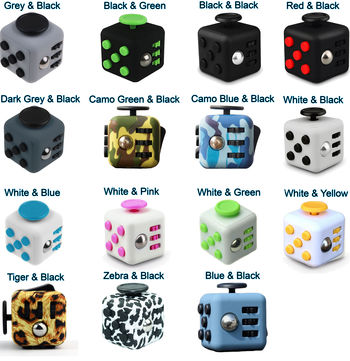 Fidget Dice - Stress & Anxiety Relieving Fidgeting Cubes - OCD Cube