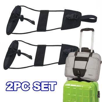 Luggage Bag Bungee - Adjustable Belt Strap For Carry On Bag Suitcase - 2pc