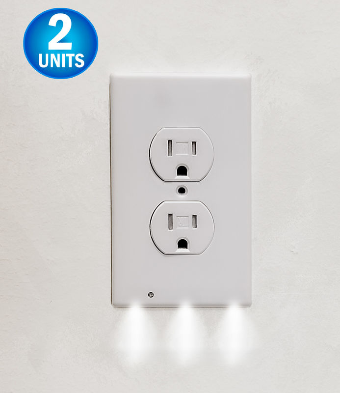 Wall Outlet Led Night Light Easy Snap On Outlet Cover