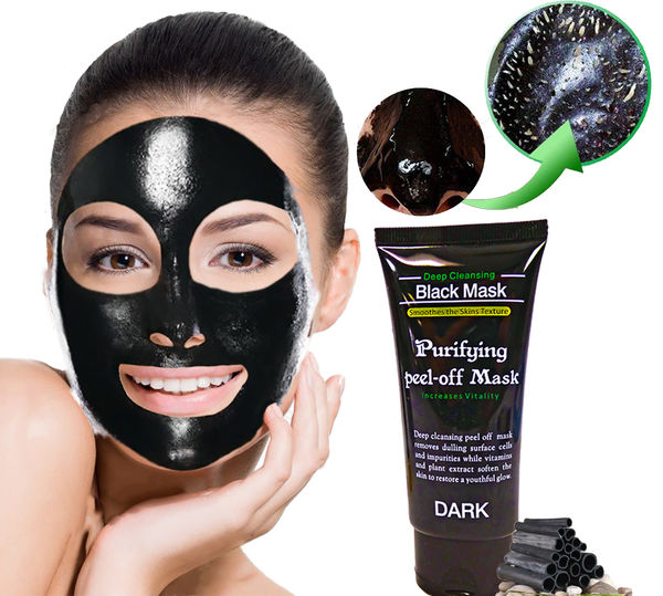 Bamboo Charcoal Acne Mask Oily Skin: 2 Black Bamboo Charcoal Peal Off Face Mask