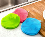 3 - Magic Sponge - Better Cleaning, Dishwashing, Scrubbing, Fruit, Vegetable Wash & Makeup Removal Anti Bacteria Brush Sponge