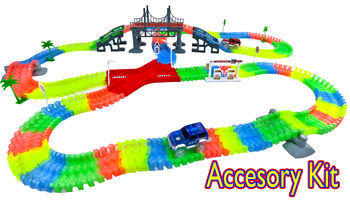 Magic Twisting Light Up Glow In The Dark Road Accessory Kit