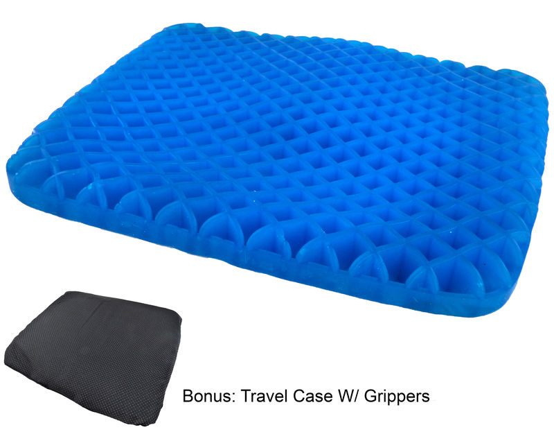 Honeycomb Cooling Gel Support Seat Cushion With Non Slip