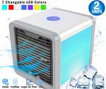 2  - Pro Polar Personal Space Evaporative Air Conditioner Cooler,  Purifier, Humidifier & Fan (4-1) - For Bedroom, Desktop & Office - Movable Vents