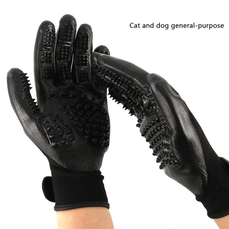 Pet Hair Grooming Gloves Gentle Deshedding Brush Glove