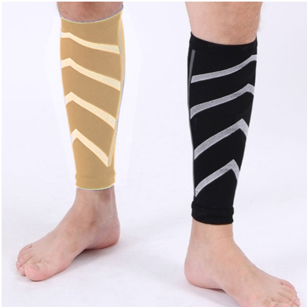 Calf Graduated Compression Running Sleeves  (20-30mmhg) - Calf Guard Socks for Running, Cycling, Maternity, Shin Splint & Calf Pain Relief  & Support - 1 Pair