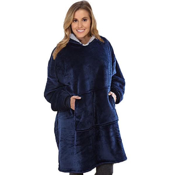 2 Sets - Comfy Hoodie Sherpa - Oversized Blanket Sweatshirt - Hooded ... 2f9aead91