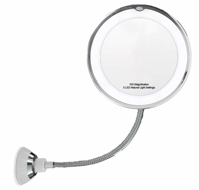 14 Led Suction Cup Makeup Mirror 6 5 Quot 10x Mirror