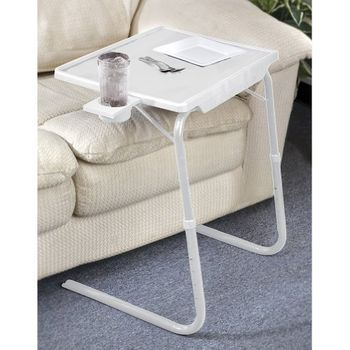 Cool Portable Foldable Tv Tray Table Laptop Eating Drawing Tray Table Stand With Adjustable Tray With Sliding Adjustable Cup Holder Only 19 95 Home Remodeling Inspirations Genioncuboardxyz