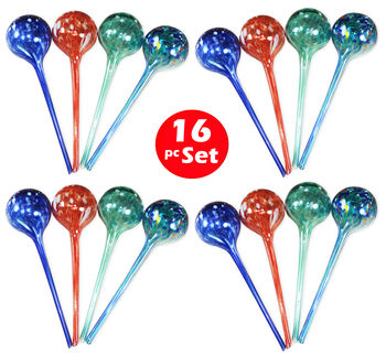 Plant Watering Globes - Automatic Watering Bulbs - 16pc Largewatering